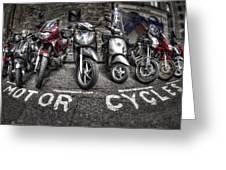 Motor Cycles Greeting Card