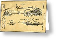 Motor Driven Sleigh Support Patent Drawing From 1915 1 Greeting Card