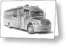 Motor Home Pencil Portrait Greeting Card