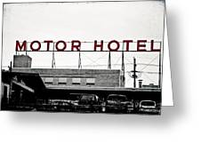 Motor Hotel Greeting Card