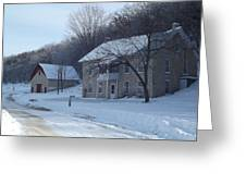 Motor Mill Inn And Livery Greeting Card