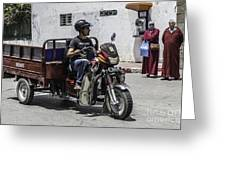 Motorbike Marocco Greeting Card by Stefano Piccini