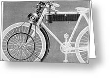Motorcycle, 1898 Greeting Card