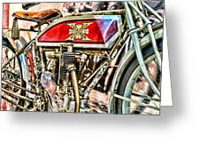 Motorcycle - 1914 Excelsior Auto Cycle Greeting Card