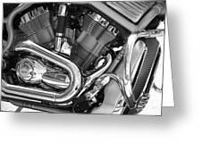 Motorcycle Close-up Bw 1 Greeting Card