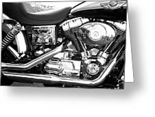 Motorcycle Close-up Bw 3 Greeting Card