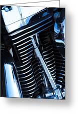 Motorcycle Engine Greeting Card
