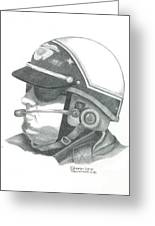 Motorcycle Officer On The Job Greeting Card