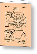 Motorcycle Patent 1925 Greeting Card