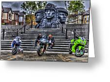Motorcycle Rally 4 Greeting Card