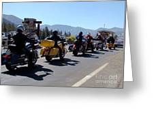 Motorcycle Row Greeting Card