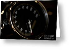 Motorcycle Speedometer Greeting Card