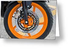 Motorcycle Wheel Greeting Card