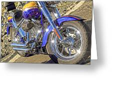 Motorcycle Without Blue Frame Greeting Card