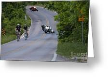 Motorcycles And Bicycles Greeting Card