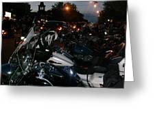 Motorcycles At Americade Lined Up Greeting Card