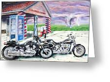 Motorcycles Greeting Card by Chris Dreher