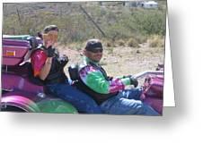 Motorcyclists Helldorado Days Parade Tombstone Arizona 2004 Greeting Card