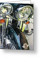 Motorcyle Classic Headlight Greeting Card