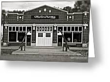 Motordrome Garage Greeting Card
