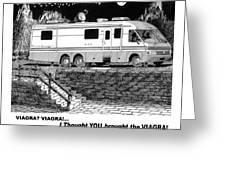 Motorhome Viagra Moonlight R V Camping Greeting Card