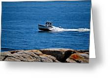 Motoring On Casco Bay Greeting Card