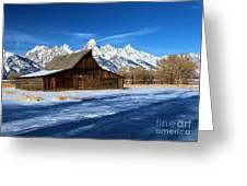 Moulton Barn Closeup Greeting Card