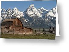 Moulton Barn - Grand Tetons I Greeting Card
