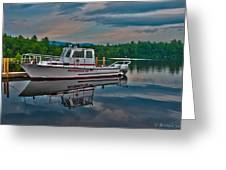 Moultonborough Fire Boat Greeting Card