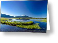 Mount Bachelor And Sparks Lake Greeting Card