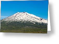 Mount Bachelor Closeup Greeting Card