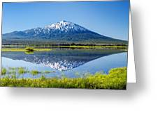 Mount Bachelor Reflection Greeting Card