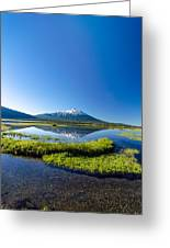 Mount Bachelor Vertical Reflection Greeting Card