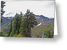 Mount Baker Area Wilderness Greeting Card