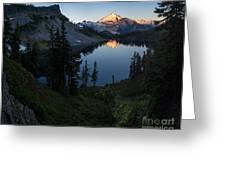 Mount Baker Chain Lakes Awakening Greeting Card