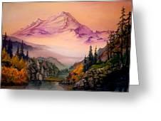 Mount Baker Morning Greeting Card