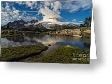 Mount Baker Skies Reflection Greeting Card