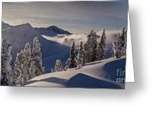 Mount Baker Snowscape Greeting Card by Mike Reid