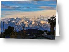Mount Baldy On A New Years Eve Greeting Card