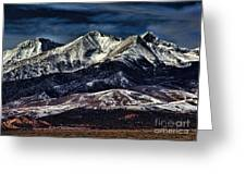 Mount Blanca Greeting Card