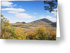 Mount Blue State Park In Fall Weld Maine Greeting Card