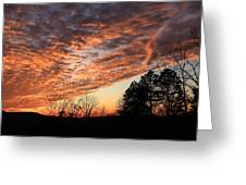 Mount Cheaha Sunset-alabama Greeting Card
