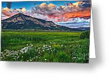 Mount Crested Butte Summer Sunset Greeting Card