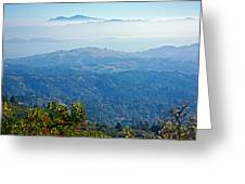 Mount Diablo From Mount Tamalpias-california Greeting Card