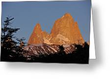 Mount Fitz Roy At Sunrise Greeting Card