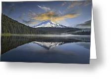 Mount Hood At Trillium One Early Morning Greeting Card
