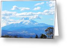 Mount Hood In The Clouds Greeting Card