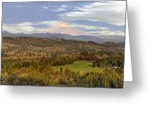 Mount Hood Over Sandy River Valley Greeting Card