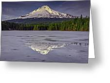 Mount Hood Reflections Greeting Card