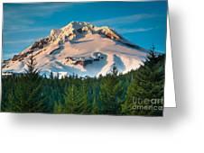 Mount Hood Winter Greeting Card